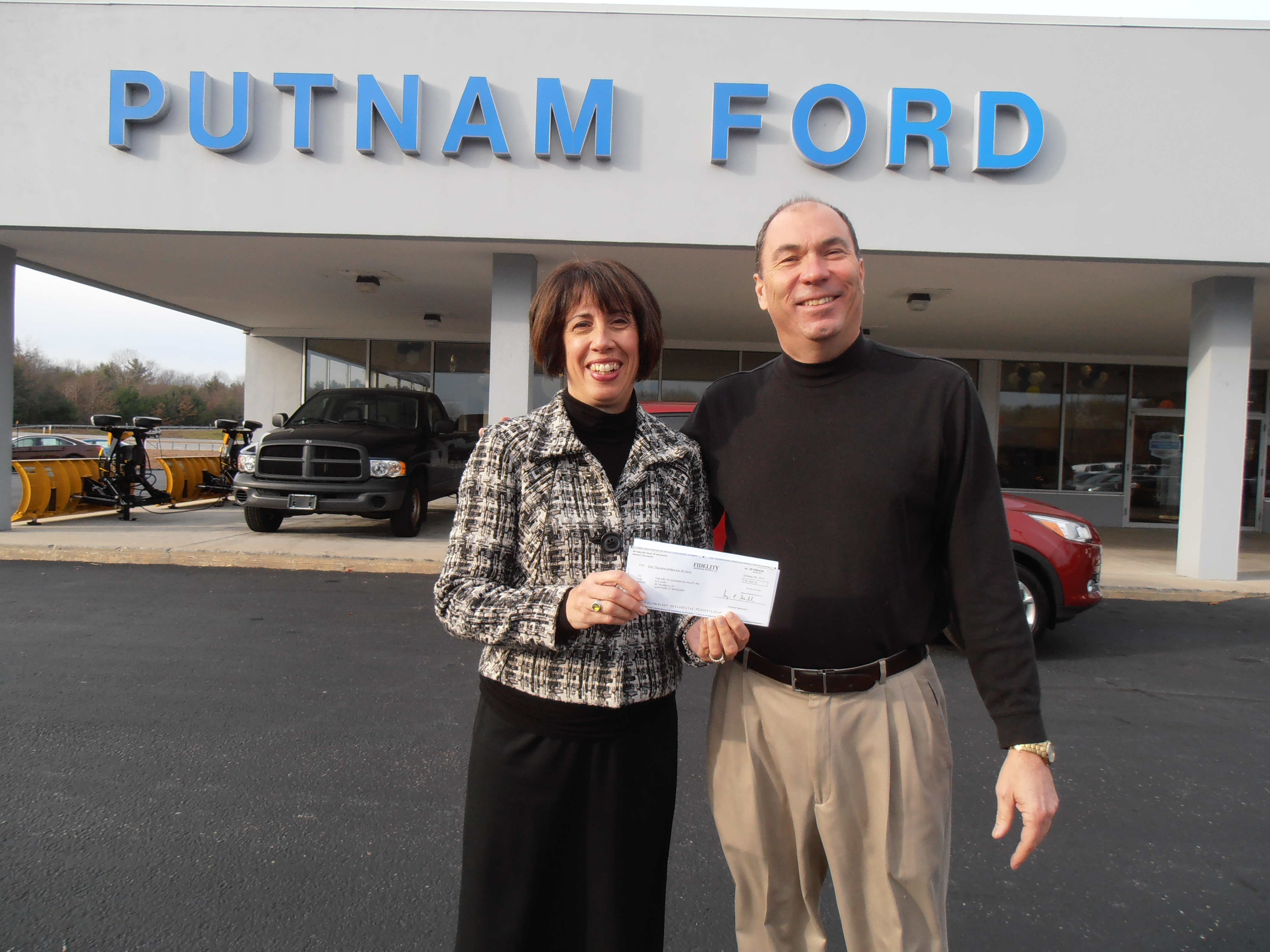 Putnam Ford The Arc Quinebaug Valley donation